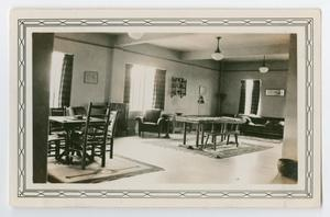 Primary view of object titled '[Photograph of Cadet Recreation Room at Randolph Field]'.