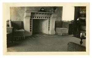Primary view of object titled '[Photograph George and Mary Pierce's Living Room]'.