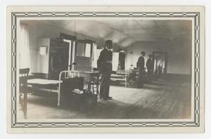 Primary view of object titled '[Photograph of Pilots Standing for Room Inspection]'.