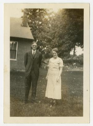 Primary view of object titled '[Photograph of Ray and Florence Pierce]'.