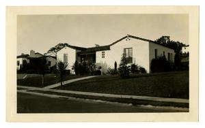 Primary view of object titled '[Photograph of George and Mary Pierce's Second House]'.