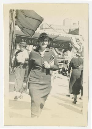 Primary view of object titled '[Photograph of Mary Pierce in San Antonio, Texas]'.