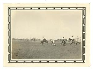 Primary view of object titled '[Photograph of a Rodeo at Schertz, Texas]'.