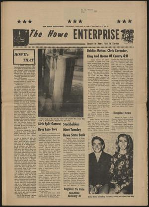 Primary view of object titled 'The Howe Enterprise (Howe, Tex.), Vol. 6, No. 27, Ed. 1 Thursday, January 22, 1970'.