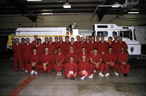Primary view of object titled '[Hereford Fire Department's Volunteers, 1991]'.