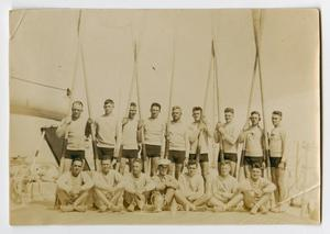 Primary view of object titled '[Photograph of the U.S.S. Texas Race Boat Team]'.