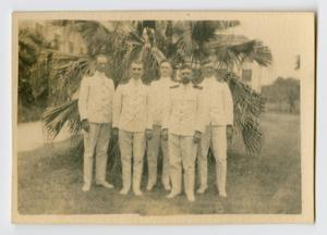 Primary view of object titled '[Photograph of Five Naval Officers]'.