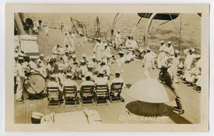 Primary view of object titled '[Photograph of a Band Concert on the Ship]'.