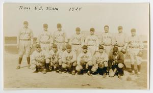 Primary view of object titled '[Photograph of the U.S.S. Texas Baseball Team]'.