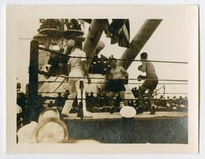 Primary view of object titled '[Two Boxers Fighting Aboard the U.S.S. Texas]'.
