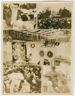 Primary view of object titled '[Five Photographs of a U.S.S. Texas Christmas Party]'.