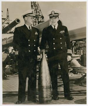 Primary view of object titled '[Photograph of Admiral Bryant and Captain Baker]'.