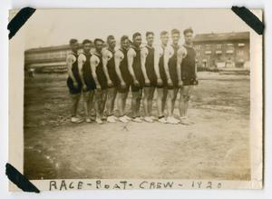 Primary view of object titled '[U.S.S. Texas Race Boat Crew in 1920]'.