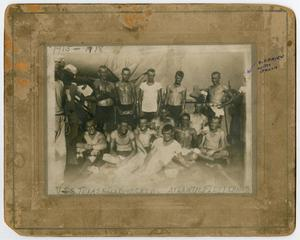 Primary view of object titled '[Photograph of the U.S.S. Texas Race Boat Crew]'.