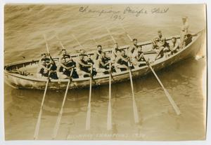 Primary view of object titled '[Photograph of the Pacific Fleet 1921 Rowing Champions]'.