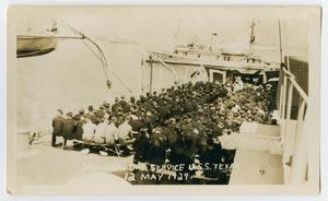 Primary view of object titled '[Mother's Day Service on the U.S.S. Texas]'.