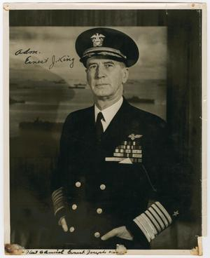 Primary view of object titled '[Portrait of Fleet Admiral Ernest J. King]'.