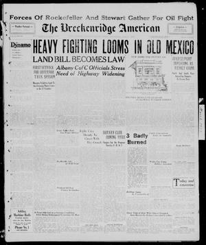 Primary view of object titled 'The Breckenridge American (Breckenridge, Tex.), Vol. 9, No. 105, Ed. 1, Wednesday, March 6, 1929'.
