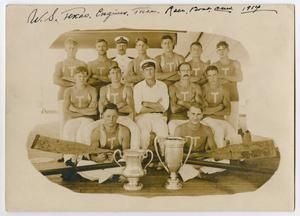 Primary view of object titled '[Race Boat Crew of the U.S.S. Texas]'.