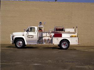Primary view of object titled '[Hereford Fire Department's Booster #3 Truck]'.