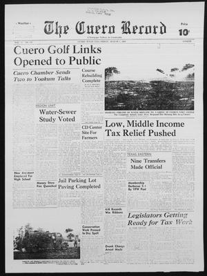 Primary view of object titled 'The Cuero Record (Cuero, Tex.), Vol. 75, No. 181, Ed. 1 Friday, August 1, 1969'.