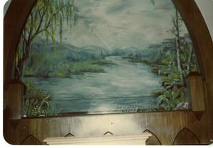 Primary view of object titled '[Baptistry Painting in Corsicana, Texas #1]'.