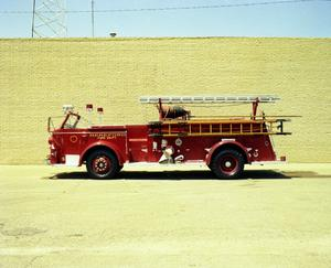 Primary view of object titled '[Hereford Fire Department's 1948 La France Fire Engine]'.