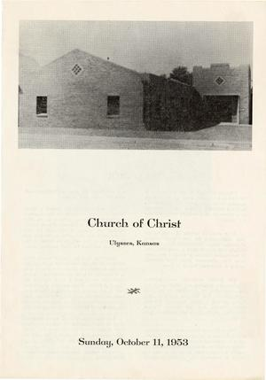 Primary view of [Ulysses, Kansas Church of Christ Bulletin]