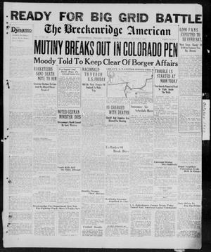 Primary view of object titled 'The Breckenridge American (Breckenridge, Tex.), Vol. 9, No. 265, Ed. 1, Thursday, October 3, 1929'.