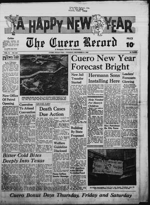 Primary view of object titled 'The Cuero Record (Cuero, Tex.), Vol. 74, No. 310, Ed. 1 Tuesday, December 31, 1968'.