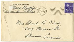 Primary view of object titled '[Letter from Edith Millsap to Blanche Perry #2]'.