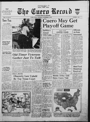 Primary view of object titled 'The Cuero Record (Cuero, Tex.), Vol. 76, No. 270, Ed. 1 Thursday, November 12, 1970'.