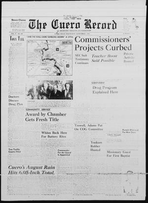 Primary view of object titled 'The Cuero Record (Cuero, Tex.), Vol. 77, No. 207, Ed. 1 Wednesday, September 1, 1971'.