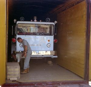 Primary view of object titled '[1970 La France Truck]'.