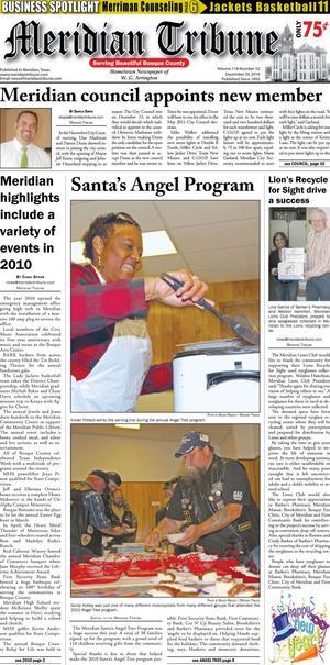 Meridian Tribune (Meridian, Tex.), Vol. 118, No. 52, Ed. 1 Wednesday, December 29, 2010