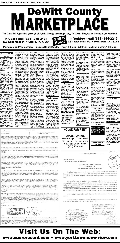 The Cuero Record (Cuero, Tex ), Vol  119, No  20, Ed  1 Wednesday
