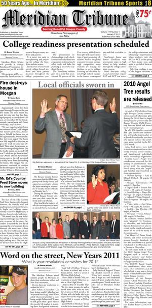Meridian Tribune (Meridian, Tex.), Vol. 119, No. 1, Ed. 1 Wednesday, January 5, 2011