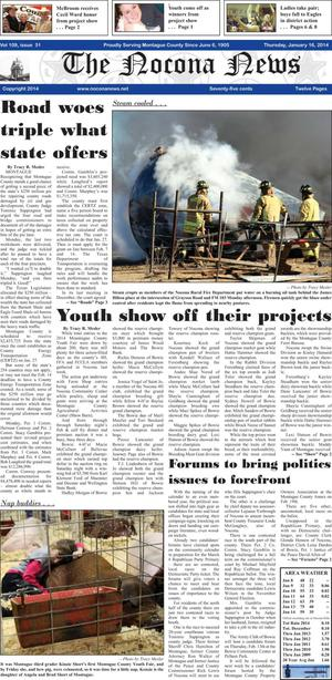 Primary view of object titled 'The Nocona News (Nocona, Tex.), Vol. 109, No. 31, Ed. 1 Thursday, January 16, 2014'.