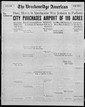 Primary view of The Breckenridge American (Breckenridge, Tex.), Vol. 15, No. 47, Ed. 1, Sunday, January 27, 1935
