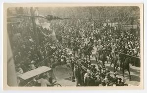 Primary view of object titled '[Parade for Washington's Birthday in Laredo, Texas]'.