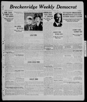 Breckenridge Weekly Democrat (Breckenridge, Tex.), No. 5, Ed. 1, Thursday, October 4, 1928