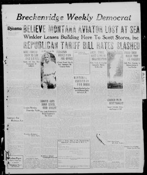 Primary view of object titled 'Breckenridge Weekly Democrat (Breckenridge, Tex.), Ed. 1, Thursday, October 24, 1929'.
