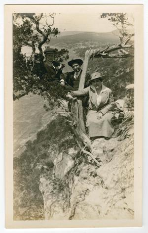 Primary view of object titled '[Campbell Family at Mount Bonnell]'.