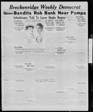 Primary view of object titled 'Breckenridge Weekly Democrat (Breckenridge, Tex.), Ed. 1, Thursday, February 5, 1931'.