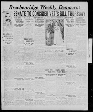 Primary view of object titled 'Breckenridge Weekly Democrat (Breckenridge, Tex.), Ed. 1, Thursday, February 19, 1931'.