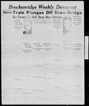 Primary view of object titled 'Breckenridge Weekly Democrat (Breckenridge, Tex.), Ed. 1, Thursday, February 26, 1931'.