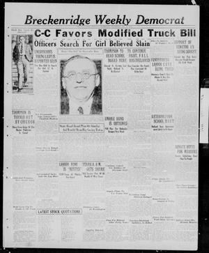 Primary view of object titled 'Breckenridge Weekly Democrat (Breckenridge, Tex.), Ed. 1, Thursday, April 9, 1931'.