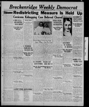 Primary view of object titled 'Breckenridge Weekly Democrat (Breckenridge, Tex.), Ed. 1, Thursday, May 14, 1931'.