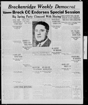 Primary view of object titled 'Breckenridge Weekly Democrat (Breckenridge, Tex.), Ed. 1, Thursday, May 28, 1931'.