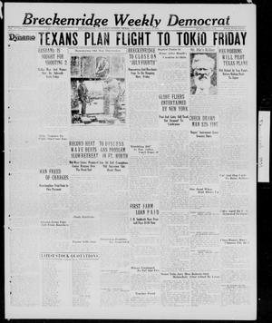 Primary view of object titled 'Breckenridge Weekly Democrat (Breckenridge, Tex.), Ed. 1, Thursday, July 2, 1931'.